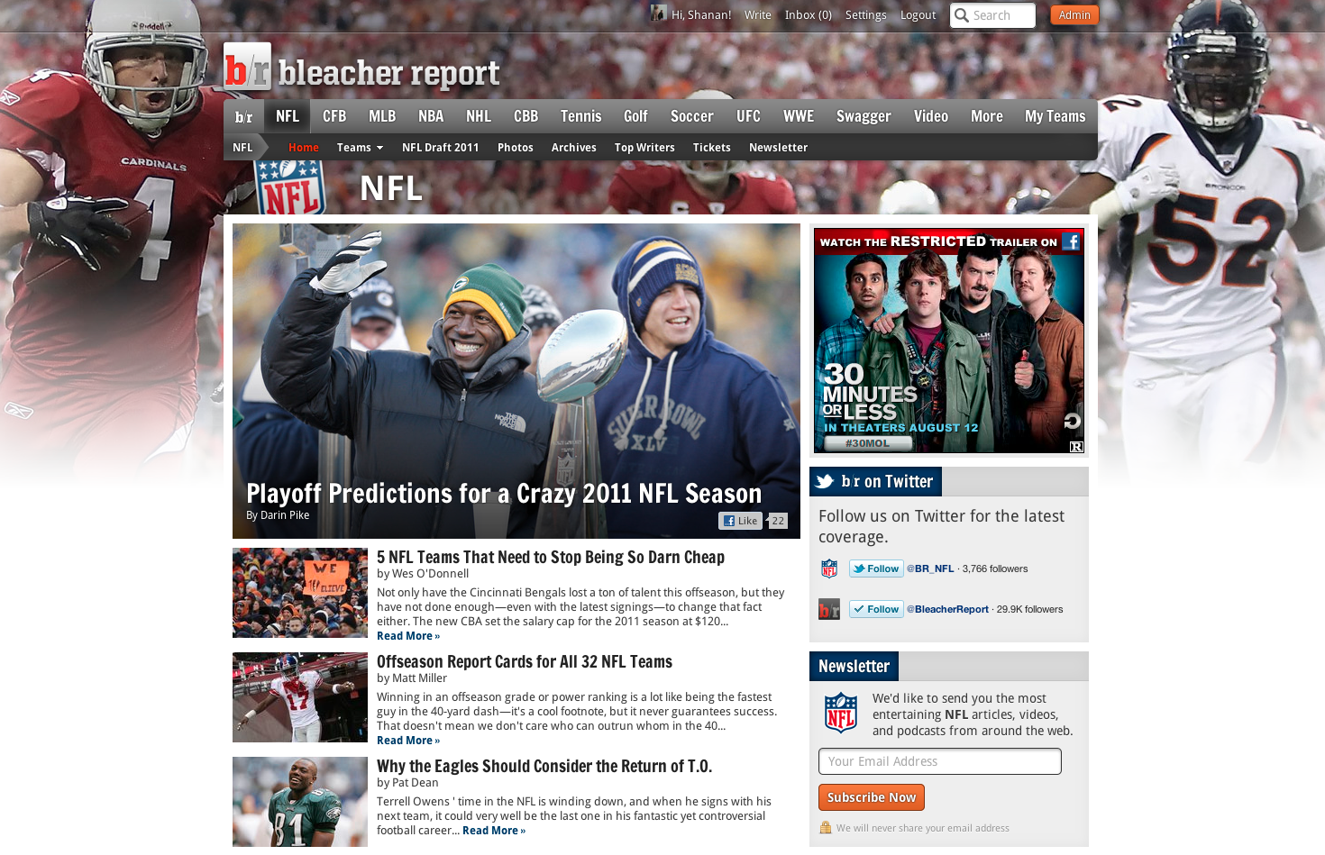 ... Up for football: A B/R redesign | Bleacher Report – The Writers Blog