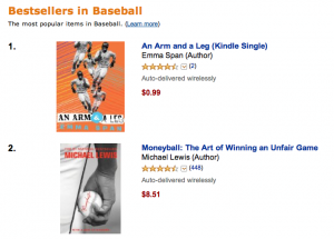 Amazon baseball bestsellers list