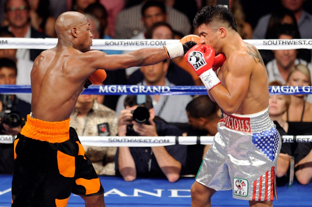 Floyd Mayweather Jr. vs Victor Ortiz, Sept. 17, 2011.