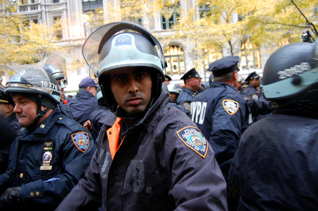New York police at Occupy Wall Street on Nov. 17.