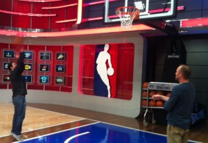 Max Tcheyan, Matt Mosteller at NBA.TV studios