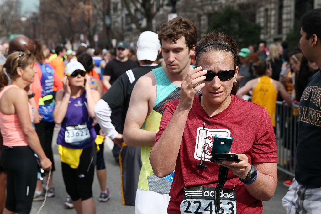 Boston Marathon runners react to blast