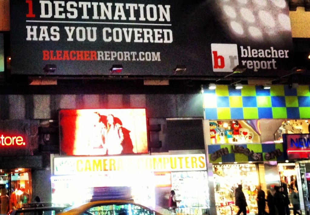 B/R billboards in Times Square