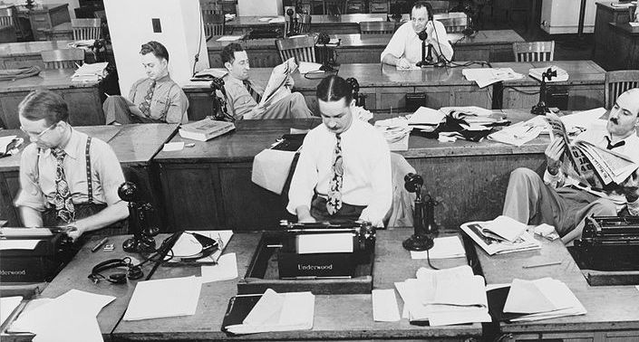 New York Times newsroom, 1942